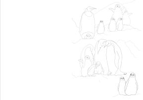 Penguins ColoringBook