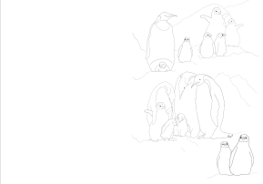 Penguins ColoringBook