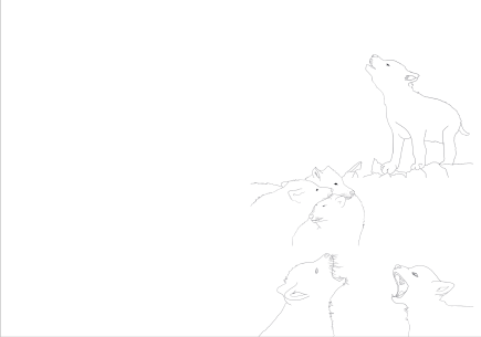 Wolves ColoringBook